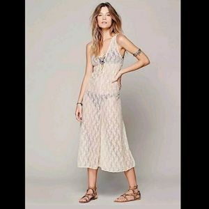 Intimately Free People Sheer Lace Wide Leg Jumper